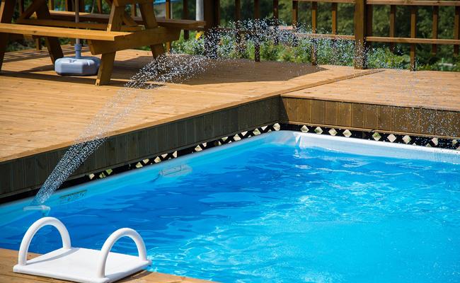 remplissage d'une piscine